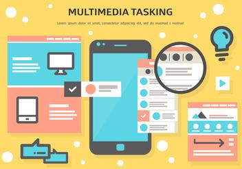 Free Multimedia Tasking Vector - Kostenloses vector #372065