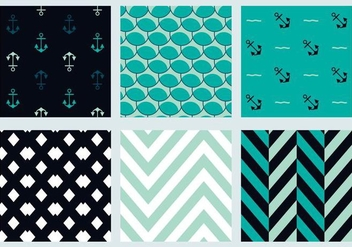 Free Marine Vector Patterns 3 - vector gratuit #372135