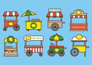 Free Simple Lemonade Stand - vector gratuit #372395