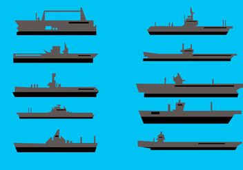 Aircraft Carrier Vector - vector gratuit #372455