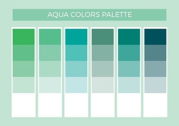 Free Aqua Colors Vector Palette - бесплатный vector #372475