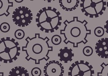 Gears Pattern - vector #372865 gratis