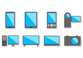 Free Electronic Devices Icon Vector - Kostenloses vector #372955