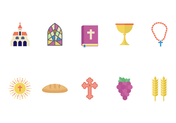 Free Eucharist Flat Icons - Free vector #372975
