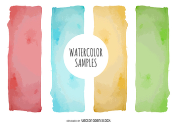 Watercolor banner set - бесплатный vector #373055