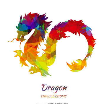 Chinese zodiac dragon illustration - бесплатный vector #373185