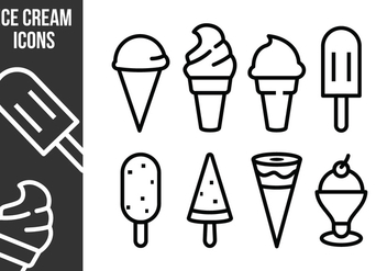 Free Ice Cream Icons - vector gratuit #373605