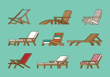 DECK CHAIR VECTOR - Free vector #373615