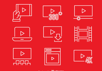 Movie Player Icons - vector gratuit #373645
