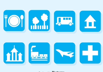 Map Legend Blue Icons - Kostenloses vector #373655