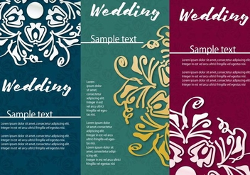 Invitation Card Wedding - Kostenloses vector #373755