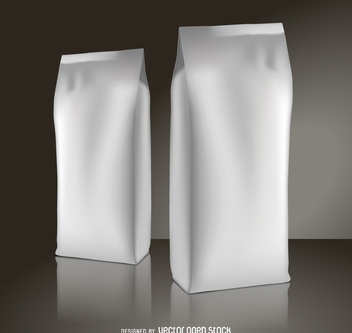 Coffee packaging mockup - Free vector #373995