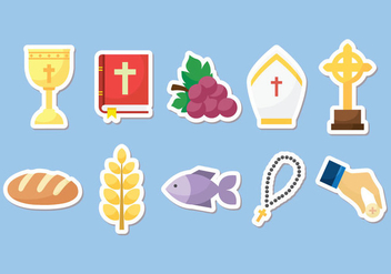 Free Holy Communion - Vector Set Of Equipment - Free vector #374105
