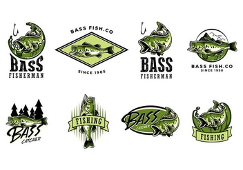 LARGEMOUTH BASS VECTOR - Free vector #374125