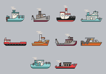 Tugboat Icon - Free vector #374135