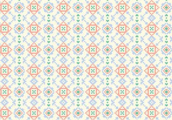 Geometric Motif Pattern - Free vector #374155