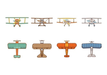 Free Biplane Vector - Free vector #374325