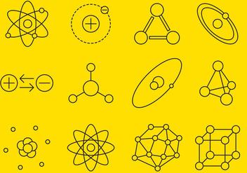Atom Line Icons - Kostenloses vector #374365