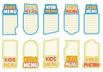 Free Kids Menu Vector - Free vector #374935