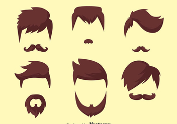 Man Hair Style Collection - vector gratuit #375035