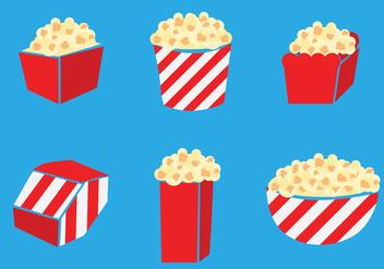 Popcorn Box Vector - Kostenloses vector #375145