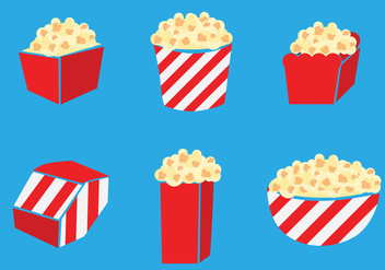Popcorn Box Vector - Free vector #375145