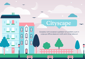 Free Cityscape Vector Illustration - бесплатный vector #375205