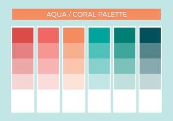 Free Aqua Coral Vector Palette - Free vector #375225