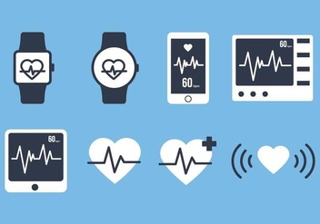 Free Heart Monitor Vector - бесплатный vector #375295