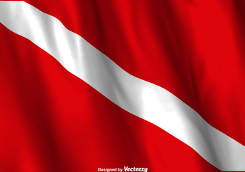 Vector Dive Flag Waving - vector gratuit #375485
