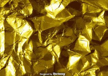 Vector Gold Crumpled Paper Texture - vector #375685 gratis