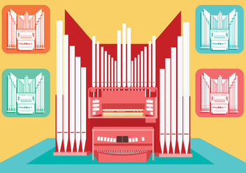 Pipe Organ Vector - Free vector #375695