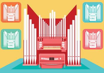 Pipe Organ Vector - Kostenloses vector #375695