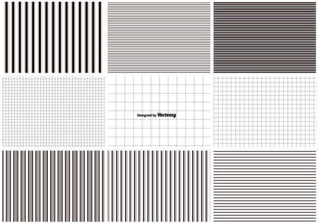 Lines and Grids Pattern Set - vector #375745 gratis
