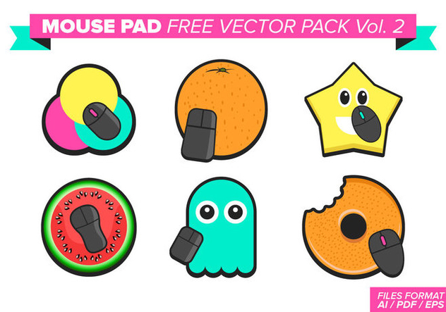 Mouse Pad Free Vector Pack Vol. 2 - бесплатный vector #375935