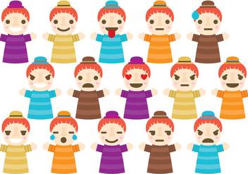 Puppet Emoticons - бесплатный vector #376125