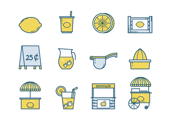 Free Lemonade Stand Vector - Free vector #376175