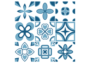 Free Portuguese Tile Vectors - Free vector #376195