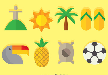 Samba Flat Icons Vector - vector gratuit #376265