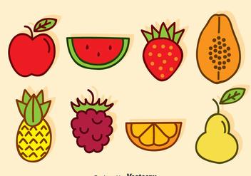 Cartoon Fruits Vector - vector #376295 gratis