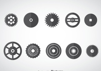 Clock Wheel Gears Vector - Free vector #376385