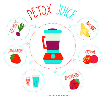 Healthy juice element poster - Free vector #376625