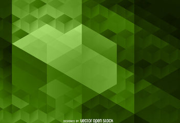 Abstract green polygonal background - Free vector #376635
