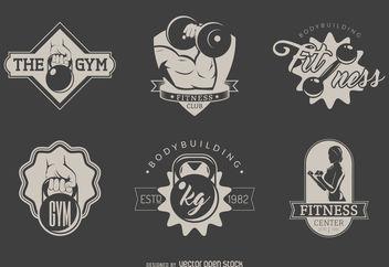 Gym logo set - Kostenloses vector #376655