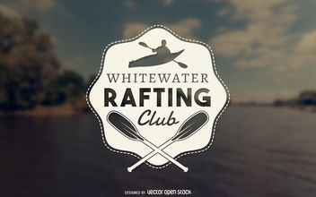 Rafting club logo - vector gratuit #377055