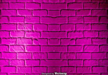 Vector Pink Grunge Brick Wall Texture - vector gratuit #377235
