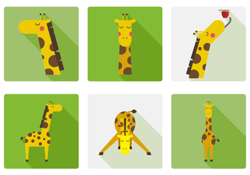 Vector Giraffe - vector gratuit #377355