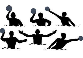 Water Polo Vector - vector gratuit #377445