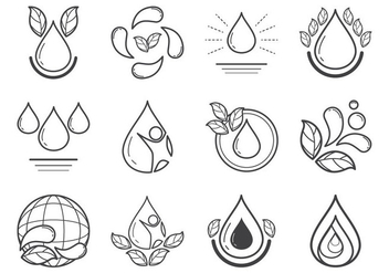 Water Icon Vector - Free vector #377615