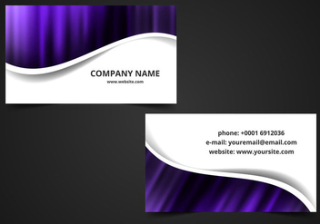 Free Vector Visiting Card Background - Kostenloses vector #377645